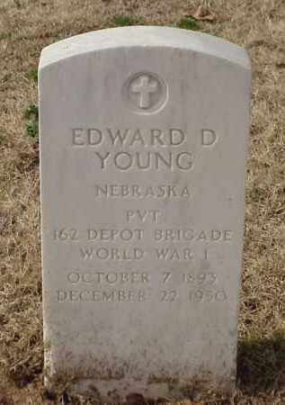 YOUNG (VETERAN WWI), EDWARD D - Pulaski County, Arkansas | EDWARD D YOUNG (VETERAN WWI) - Arkansas Gravestone Photos