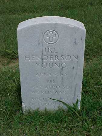 YOUNG (VETERAN WWI), IRL HENDERSON - Pulaski County, Arkansas | IRL HENDERSON YOUNG (VETERAN WWI) - Arkansas Gravestone Photos
