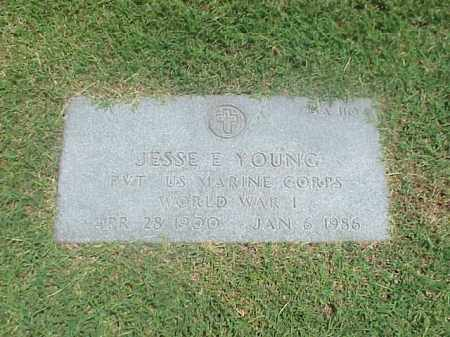 YOUNG (VETERAN WWI), JESSE E - Pulaski County, Arkansas | JESSE E YOUNG (VETERAN WWI) - Arkansas Gravestone Photos
