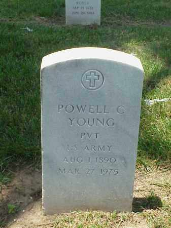YOUNG (VETERAN WWI), POWELL C - Pulaski County, Arkansas | POWELL C YOUNG (VETERAN WWI) - Arkansas Gravestone Photos