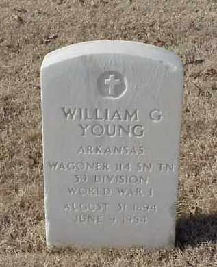 YOUNG (VETERAN WWI), WILLIAM G - Pulaski County, Arkansas | WILLIAM G YOUNG (VETERAN WWI) - Arkansas Gravestone Photos