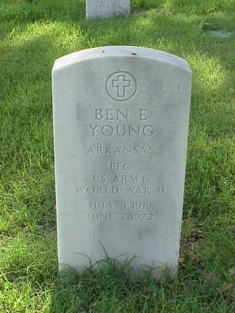 YOUNG (VETERAN WWII), BEN E - Pulaski County, Arkansas | BEN E YOUNG (VETERAN WWII) - Arkansas Gravestone Photos
