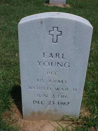 YOUNG (VETERAN WWII), EARL - Pulaski County, Arkansas | EARL YOUNG (VETERAN WWII) - Arkansas Gravestone Photos