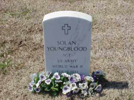 YOUNGBLOOD (VETERAN WWII), SOLAN - Pulaski County, Arkansas | SOLAN YOUNGBLOOD (VETERAN WWII) - Arkansas Gravestone Photos