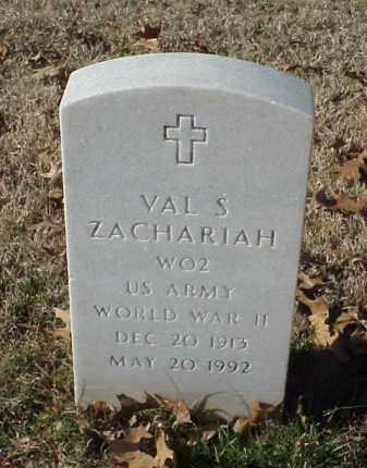 ZACHARIAH (VETERAN WWII), VAL S - Pulaski County, Arkansas | VAL S ZACHARIAH (VETERAN WWII) - Arkansas Gravestone Photos