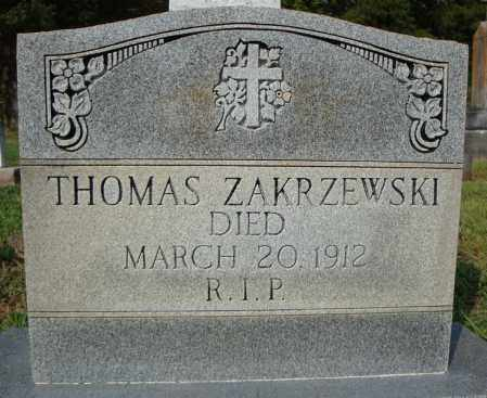 ZAKRZEWSKI, THOMAS - Pulaski County, Arkansas | THOMAS ZAKRZEWSKI - Arkansas Gravestone Photos