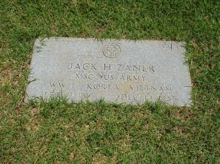 ZANER (VETERAN 3 WARS), JACK H - Pulaski County, Arkansas | JACK H ZANER (VETERAN 3 WARS) - Arkansas Gravestone Photos