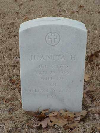 ZASS, JUANITA H - Pulaski County, Arkansas | JUANITA H ZASS - Arkansas Gravestone Photos