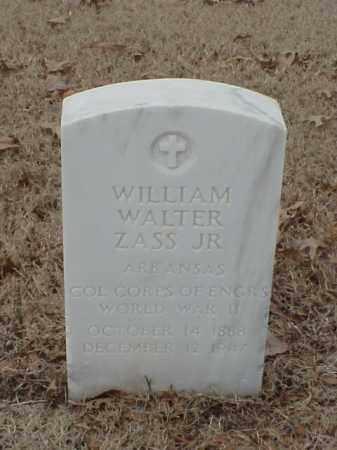 ZASS, JR (VETERAN WWII), WILLIAM WALTER - Pulaski County, Arkansas | WILLIAM WALTER ZASS, JR (VETERAN WWII) - Arkansas Gravestone Photos