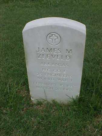 ZEEVELD (VETERAN WWI), JAMES M - Pulaski County, Arkansas | JAMES M ZEEVELD (VETERAN WWI) - Arkansas Gravestone Photos