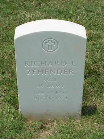 ZEHENDER (VETERAN VIET), RICHARD L - Pulaski County, Arkansas | RICHARD L ZEHENDER (VETERAN VIET) - Arkansas Gravestone Photos