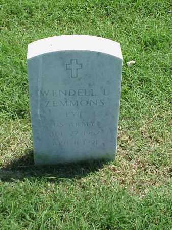 ZEMMONS (VETERAN), WENDELL L - Pulaski County, Arkansas | WENDELL L ZEMMONS (VETERAN) - Arkansas Gravestone Photos