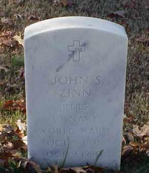 ZINN (VETERAN WWI), JOHN S - Pulaski County, Arkansas | JOHN S ZINN (VETERAN WWI) - Arkansas Gravestone Photos