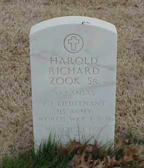 ZOOK, SR  (VETERAN 2 WARS), HAROLD RICHARD - Pulaski County, Arkansas | HAROLD RICHARD ZOOK, SR  (VETERAN 2 WARS) - Arkansas Gravestone Photos