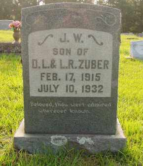 ZUBER, JOHN W - Pulaski County, Arkansas | JOHN W ZUBER - Arkansas Gravestone Photos