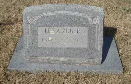 ZUBER, LEE A - Pulaski County, Arkansas | LEE A ZUBER - Arkansas Gravestone Photos
