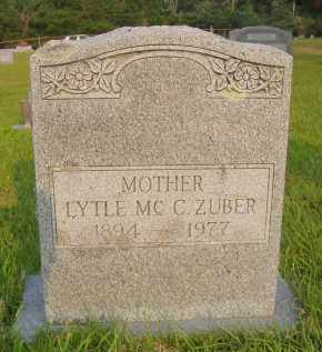 MCCRACKEN ZUBER, LYTLE RUTH - Pulaski County, Arkansas | LYTLE RUTH MCCRACKEN ZUBER - Arkansas Gravestone Photos