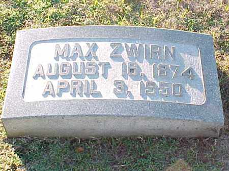 ZWIRN, MAX - Pulaski County, Arkansas | MAX ZWIRN - Arkansas Gravestone Photos