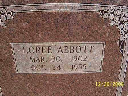 ABBOTT, LOREE - Randolph County, Arkansas | LOREE ABBOTT - Arkansas Gravestone Photos