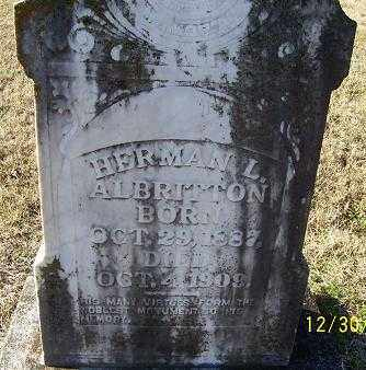 ALBRITTON, HERMAN L. - Randolph County, Arkansas | HERMAN L. ALBRITTON - Arkansas Gravestone Photos