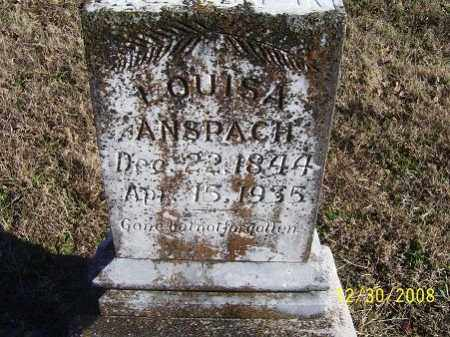 ANSPACH, LOUISA - Randolph County, Arkansas | LOUISA ANSPACH - Arkansas Gravestone Photos