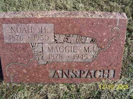 ANSPACH, NOAH H. - Randolph County, Arkansas | NOAH H. ANSPACH - Arkansas Gravestone Photos