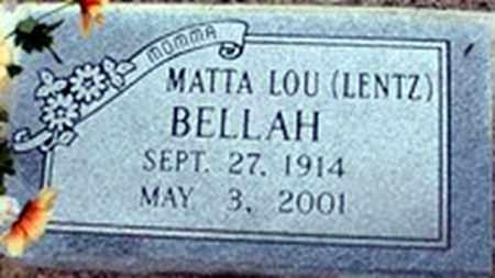 LENTZ BELLAH, MATTA LOU - Randolph County, Arkansas | MATTA LOU LENTZ BELLAH - Arkansas Gravestone Photos