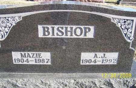 BISHOP, MAZIE - Randolph County, Arkansas | MAZIE BISHOP - Arkansas Gravestone Photos