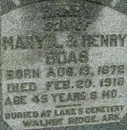 BOAS, MARY A. - Randolph County, Arkansas | MARY A. BOAS - Arkansas Gravestone Photos