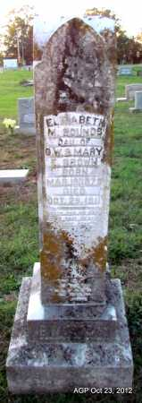 BOUNDS, ELIZABETH M - Randolph County, Arkansas | ELIZABETH M BOUNDS - Arkansas Gravestone Photos