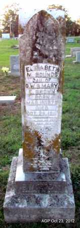 BROWN BOUNDS, MARY ELIZABETH - Randolph County, Arkansas | MARY ELIZABETH BROWN BOUNDS - Arkansas Gravestone Photos