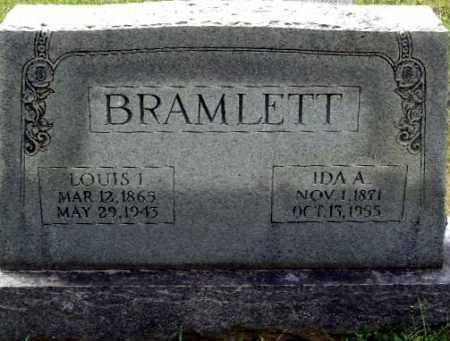 BRAMLETT, IDA A - Randolph County, Arkansas | IDA A BRAMLETT - Arkansas Gravestone Photos