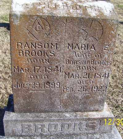 BROOKS, RANSOM EARL - Randolph County, Arkansas | RANSOM EARL BROOKS - Arkansas Gravestone Photos