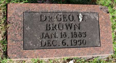 BROWN, DR GEORGE W - Randolph County, Arkansas | DR GEORGE W BROWN - Arkansas Gravestone Photos