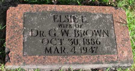 BROWN, ELSIE E - Randolph County, Arkansas | ELSIE E BROWN - Arkansas Gravestone Photos