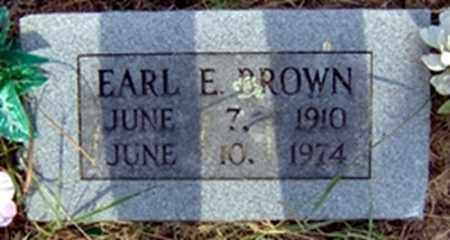 BROWN, EARL E - Randolph County, Arkansas | EARL E BROWN - Arkansas Gravestone Photos