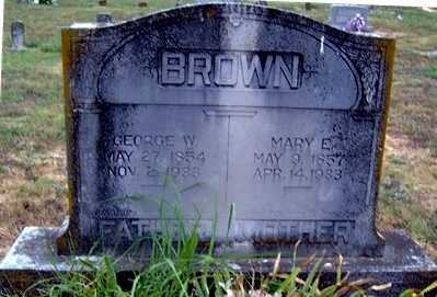 VERMILYE BROWN, MARY E - Randolph County, Arkansas | MARY E VERMILYE BROWN - Arkansas Gravestone Photos