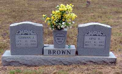 BROWN, GERMAN JESSE - Randolph County, Arkansas | GERMAN JESSE BROWN - Arkansas Gravestone Photos