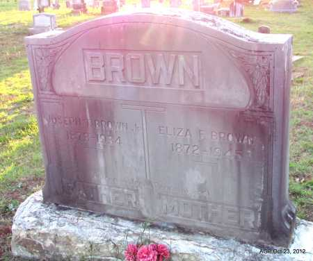 BROWN, ELIZA F - Randolph County, Arkansas | ELIZA F BROWN - Arkansas Gravestone Photos
