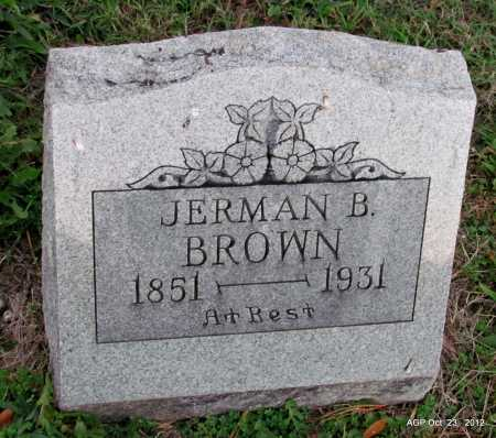 BROWN, JERMAN B - Randolph County, Arkansas | JERMAN B BROWN - Arkansas Gravestone Photos
