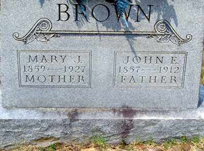 BROWN, JOHN E - Randolph County, Arkansas | JOHN E BROWN - Arkansas Gravestone Photos