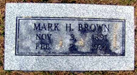 BROWN, MARK HUGHES - Randolph County, Arkansas | MARK HUGHES BROWN - Arkansas Gravestone Photos