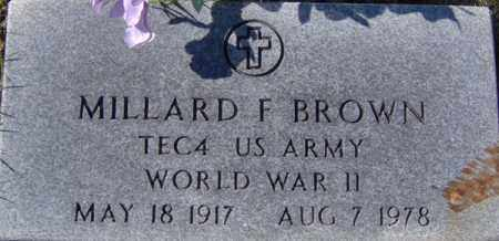BROWN (VETERAN WWII), MILLARD FRANKLIN - Randolph County, Arkansas | MILLARD FRANKLIN BROWN (VETERAN WWII) - Arkansas Gravestone Photos