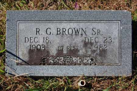 BROWN, SR., ROBERT G. - Randolph County, Arkansas | ROBERT G. BROWN, SR. - Arkansas Gravestone Photos