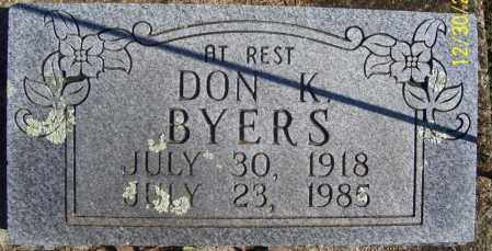 BYERS, SR., DON KISLING - Randolph County, Arkansas | DON KISLING BYERS, SR. - Arkansas Gravestone Photos