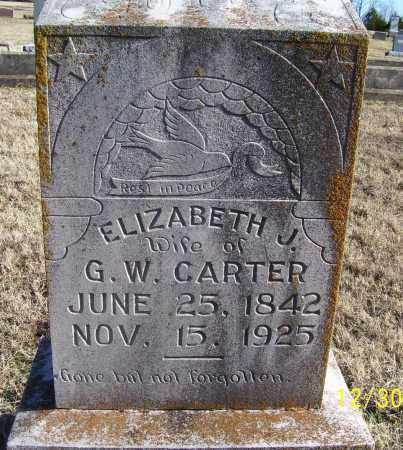 CARTER, ELIZABETH J. - Randolph County, Arkansas | ELIZABETH J. CARTER - Arkansas Gravestone Photos