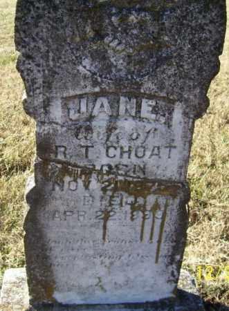 CHOAT, JANE - Randolph County, Arkansas | JANE CHOAT - Arkansas Gravestone Photos