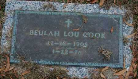 COOK, BEULAH LOU - Randolph County, Arkansas | BEULAH LOU COOK - Arkansas Gravestone Photos