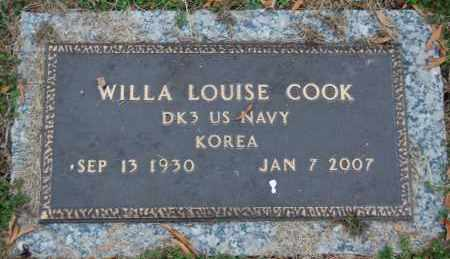 COOK (VETERAN KOR), WILLA LOUISE - Randolph County, Arkansas | WILLA LOUISE COOK (VETERAN KOR) - Arkansas Gravestone Photos
