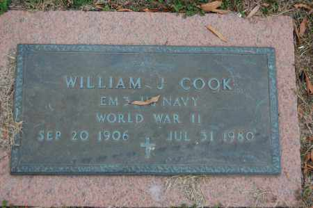 COOK (VETERAN WWII), WILLIAM J - Randolph County, Arkansas | WILLIAM J COOK (VETERAN WWII) - Arkansas Gravestone Photos
